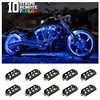 10 RGB Music Control Wireless Remote LED Car Motorcycle Light Atmosphere Lamp With Smart Brake Light