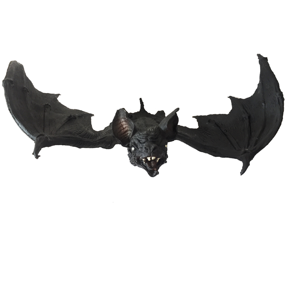 giant hanging bat halloween props grave yards scary hunted house