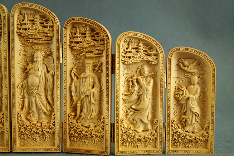 Yueqing boxwood carvings n home feng shui ornaments blessing for