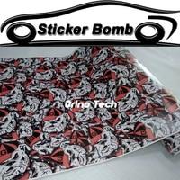Stickerbomb Vinyl Wrap Graffiti Cartoon JDM Printed Decorative Adhesive Sticker Film Sheet For Racing Car Motorcycle Bike