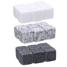 6 pièces/ensemble pierres de Whisky naturelles réutilisable moule de glace Whisky Cocktail pierre bière Rock refroidisseur bloc accessoires de barre de fête de mariage