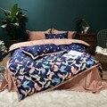 Новый комплект постельных принадлежностей из египетского хлопка  4 шт.  набор пододеяльников  набор постельного белья с птицами  набор прост...