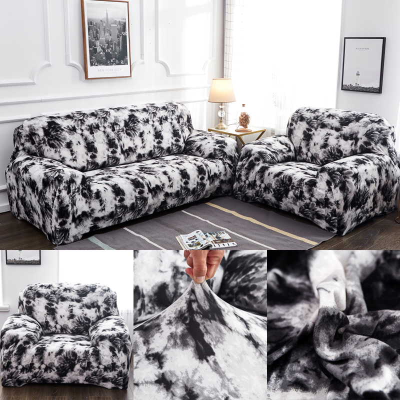 sofa covers spandex stretch for living room corner couch cover white elastic slipcovers fully wrapped anti-dust sectional sofa