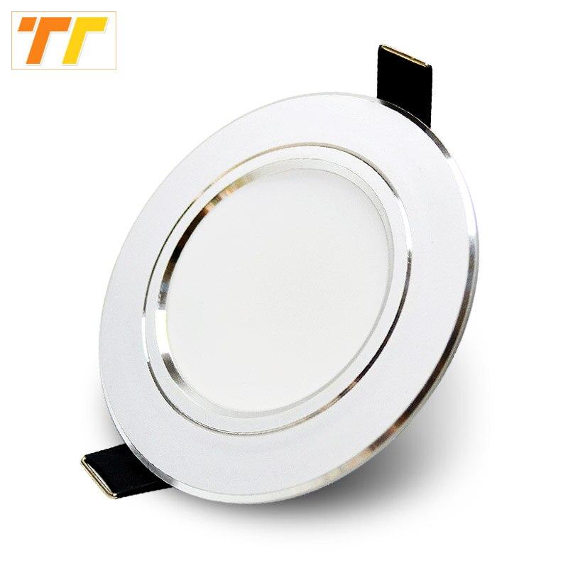LED typu downlight 3W 5W 7W 9W 12W 15W 18W 220V 110V LED sufitowe lampy łazienkowe oświetlenie do salonu oświetlenie wewnętrzne domu darmowa wysyłka