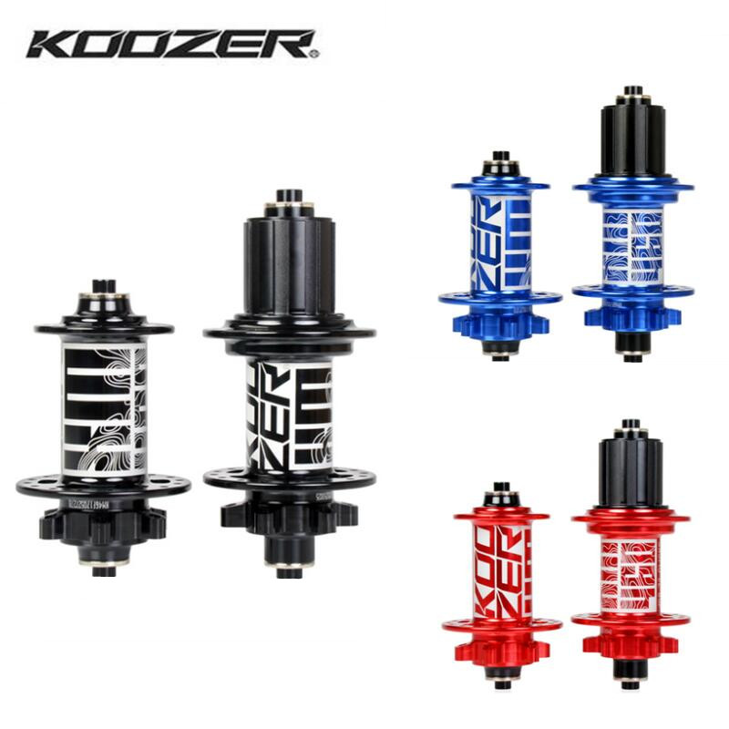 Koozer Hub BM440 Mountain Bike Hub Front 15x110mm Rear 12x148mm 32Holes Thru and QR Axle Bicycle Hub Sealed Bearing Bicycle Hub rich bit bicycle hubs sealed bearing mountain bike hub qr and thru transform each other disc brake front 9 15mm rear 10 12mm hub