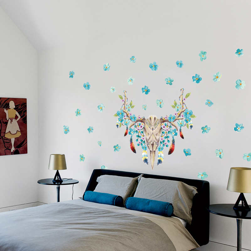 Parties Bushbuck Skull Wall Stickers For Bedroom Lliving