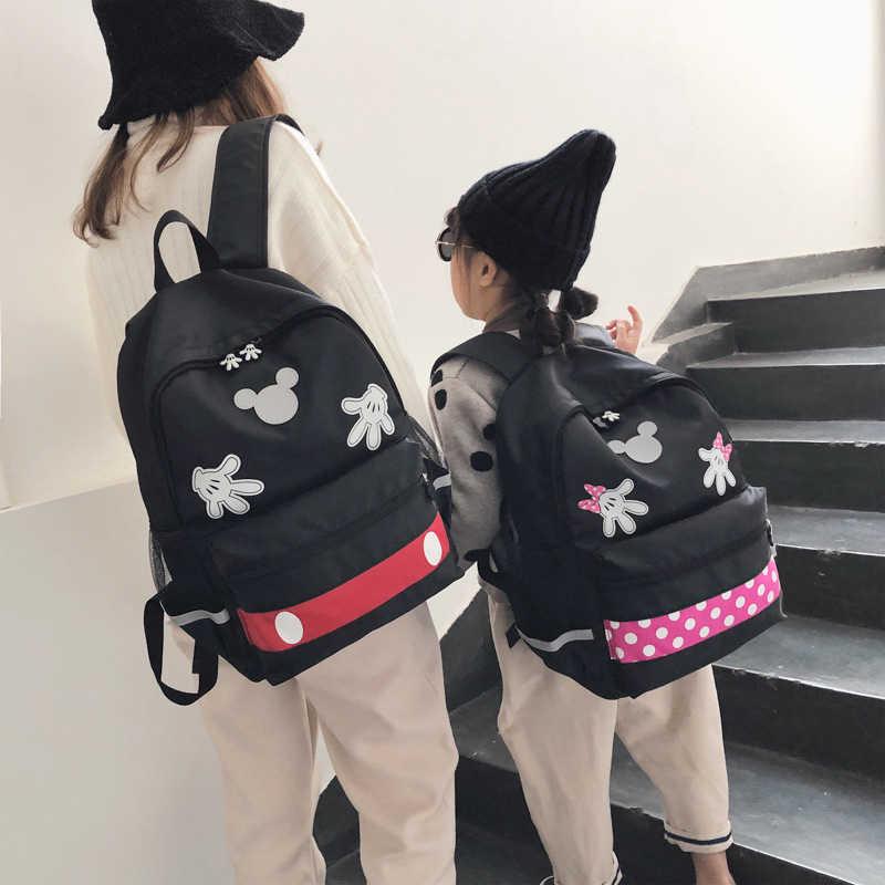 2019 disney Микки Минни большой емкости плюшевые рюкзаки Микки Маус Модные школьные женские сумки для девочек дорожные сумки