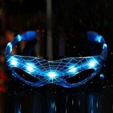 Год для детей в Стиле Человека-паука, рождественские подарки, светящиеся очки, игрушки, 9 Светодиодный светящийся крутой мигающий светильник, игрушечные очки