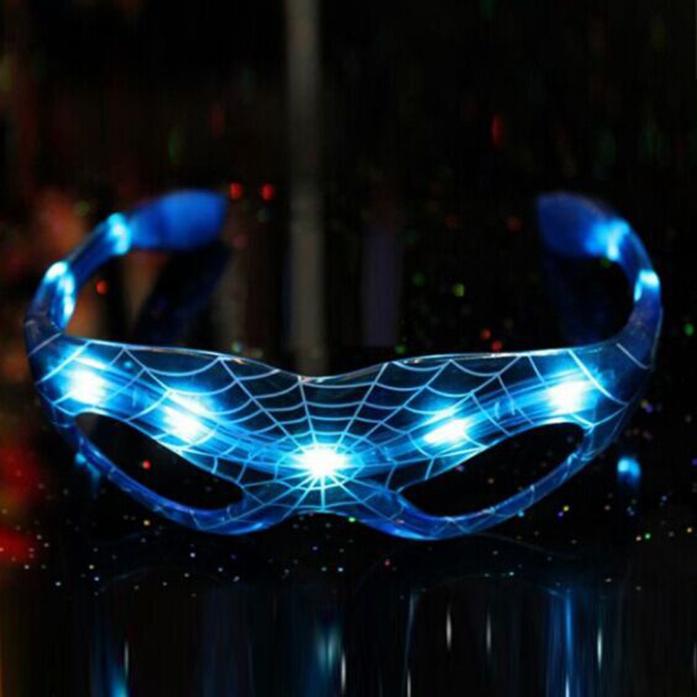 New Year For Spider Man Style Baby Kids Christmas Gifts Luminous Glasses Toys 9 LED Luminous Cool Flashing Light Up Toy Glasses