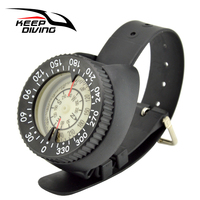 Outdoor Waterproof Compass Underwater 50m Depth For Diving Caving Camping Hunting Compass With ABS Wristband