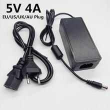 5 v 4a universal adaptador de alimentação 5v4a 5 v 220v para 5 volts ac dc adaptador de comutação ue eua uk au plug cabo 5.5mm * 2.1 2.5mm