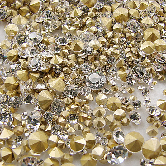 7 Sizes Crystal Clear 1440pcs SS6 SS8 SS10 SS12 SS16 SS20 SS29 Point Back  Rhinestones glass strass chaton stone-in Rhinestones from Home   Garden on  ... 997f8b43f047