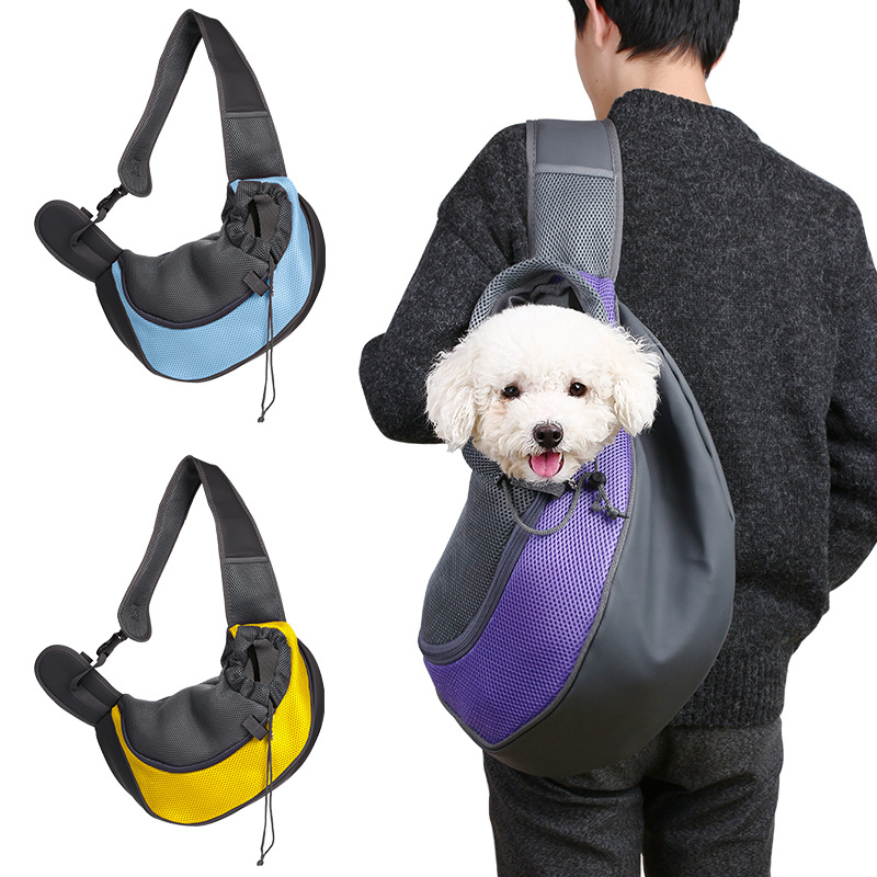 Breathable Mesh Sling Dog Carrier Shoulder Bag Backpack For Small pets cats 4 color available