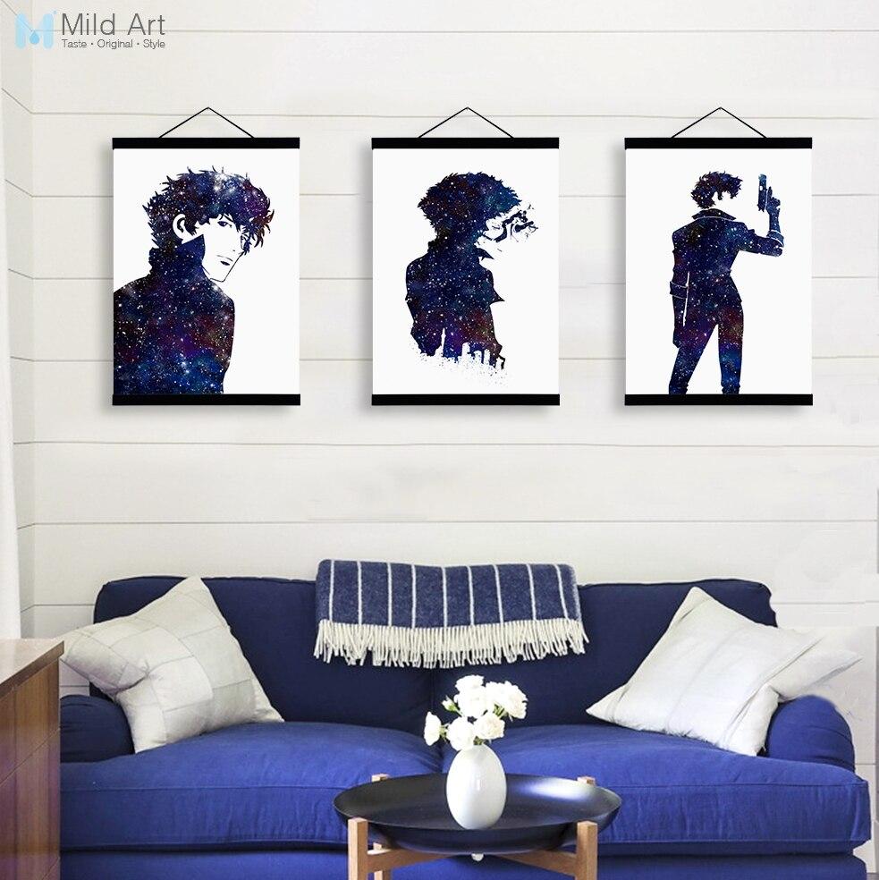 Acuarela moderna japonés anime cowboy bebop madera enmarcada ...