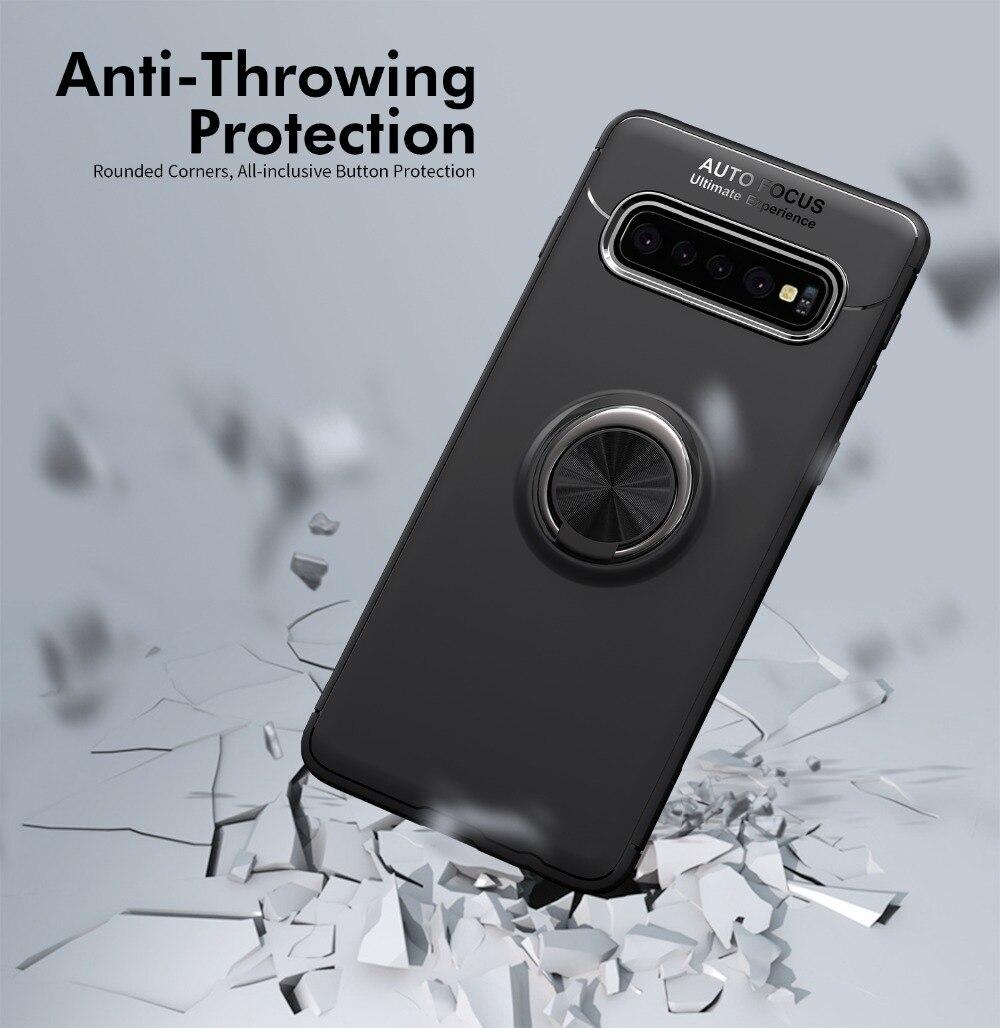Case For Samsung Galaxy S10 Plus Case Ring Magnetic Cover For Samsung A6 Plus J6 2018 S9 Plus Note 9 Case For S10 E