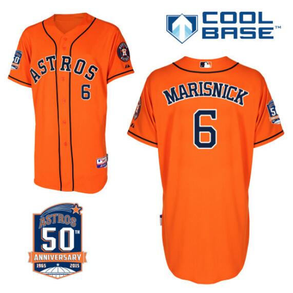 size 40 38167 691fc Jake Marisnick Jersey 2015 Houston Astros #6 white orange ...