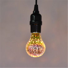 Fairy Fireworks 3D Effect LED Holiday lights Vintage Decorative Bulb 3D LED lamp 110V-220V E27 4W A60 ST64 G80 G95 G125 For Home(China)