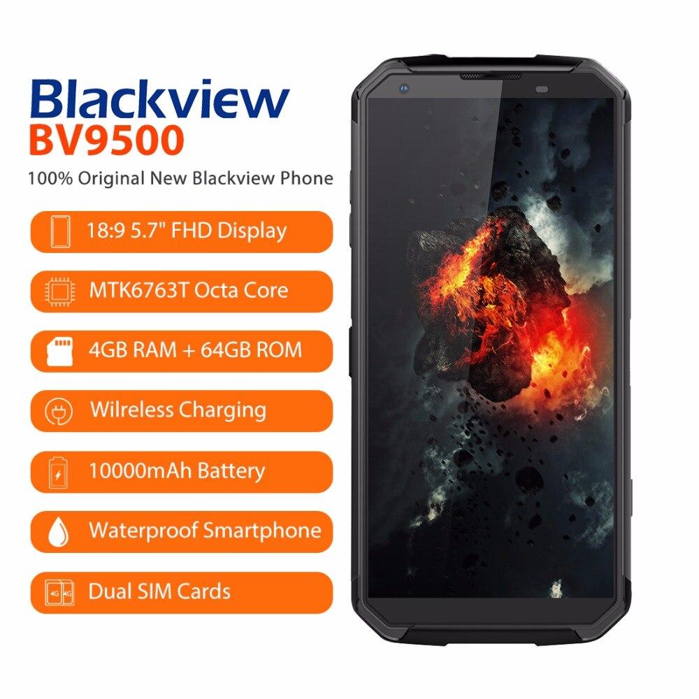 Blackview BV9500 Android 8.1 Octa base 5.7 18:9 MTK6763T 4 gb RAM 64 gb ROM IP68 Étanche Smartphone NFC OTG 4g Mobile Téléphone