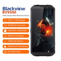 Blackview BV9500 Android 8.1 Octa Core 5.7 18:9 MTK6763T 4GB RAM 64GB ROM IP68 Waterproof Smartphone NFC OTG 4G Mobile Phone