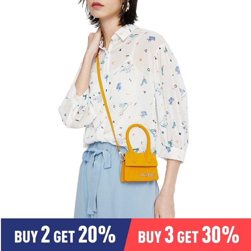 Toyouth Elegant Turn Down Colloar Women   Blouse     Shirt   Three Quarter Sleeve Female Top   Shirt   Streetwear Casual Chiffon Tops   Blouse
