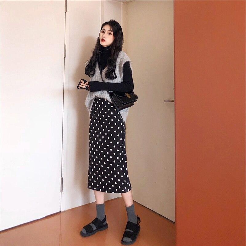 Las mujeres de gran tamaño vestido de otoño e invierno 2018 nueva grasa hermana celebridad de internet de edad reducir suéter