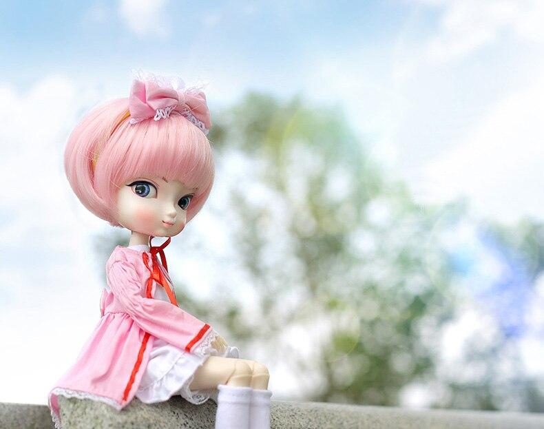 Livraison gratuite 1/6 BJD SD BBgirl rose jeune fille poupée jouets haute qualité résine joints poupées bricolage cadeaux d'anniversaire pour les enfants
