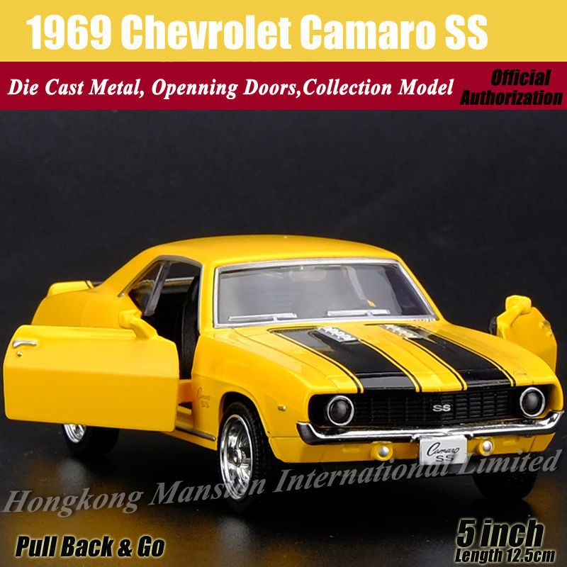 """Chevrolet CAMAR0 SS 1969 1:36 Model Cars 5/"""" Collection/&Gifts Alloy Diecast New"""