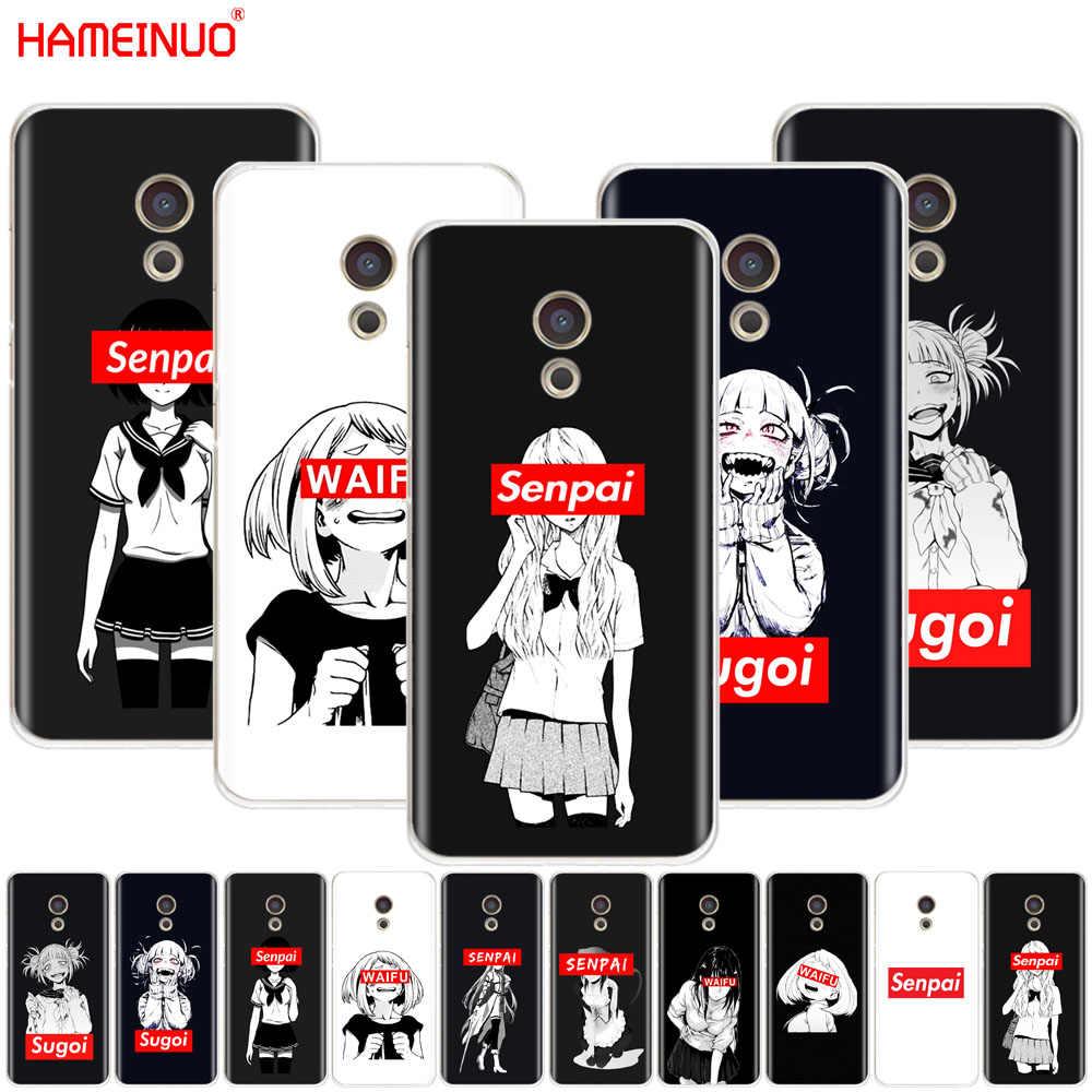 HAMEINUO Sugoi Senpai Anime waifu pokrywa etui na telefon do Meizu M6 M5 M5S M2 M3 M3S MX4 MX5 MX6 PRO 6 5 U10 U20 note plus