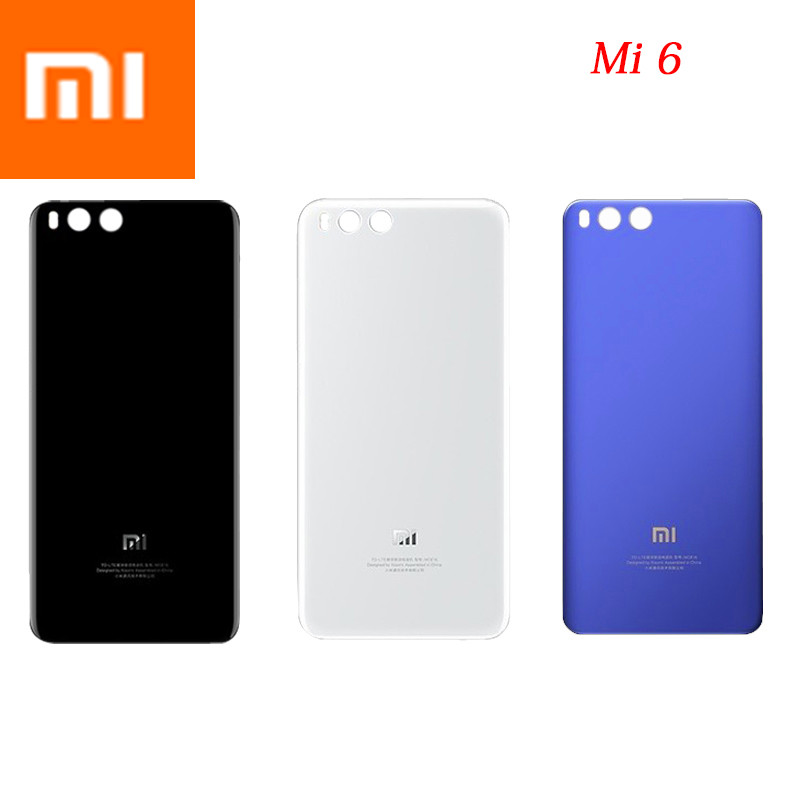 MI6 100% Original 3D Glass Rear Housing Cover For XIAOMI MI 6 , Back Door Replacement Hard Battery Case,3Colors Stock Xiaom Mi6-in Fitted Cases from Cellphones & Telecommunications