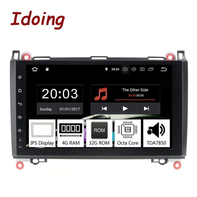 """Idoing 9 """"8 コア 2Din Andriod9.0 カーラジオの Gps Dvd マルチメディアプレーヤー 4 グラム + 32 グラムのためのメルセデスベンツクラス & B クラス IPS 画面ナビゲーション"""