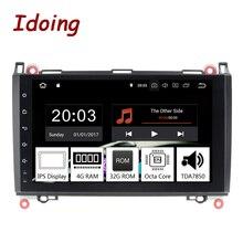 Idoing 9 «8 Core 2Din Andriod9.0 автомобильный Радио, DVD, GPS мультимедийный плеер 4G + 32G для merceesbenz A Class & B класс ips экран навигации