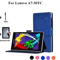 2015 הדפסת פרחי ניו A7-30TC stand נרתיק עור עבור lenovo tab 2 A7-30TC 7 אינץ tablet case כיסוי