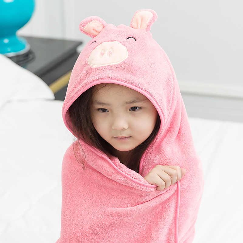 ... Comfortable Baby Bathrobe Cute Animal Cartoon Babies Blanket Kids Bath  Poncho With Hood Bathrobe Toddler Baby ... d73d878a2