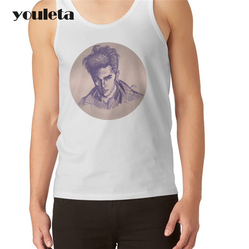 Cheapest Fashion Men Tank tops Panic! At The Disco Printed Casual Vest Hipster Funny Singlets