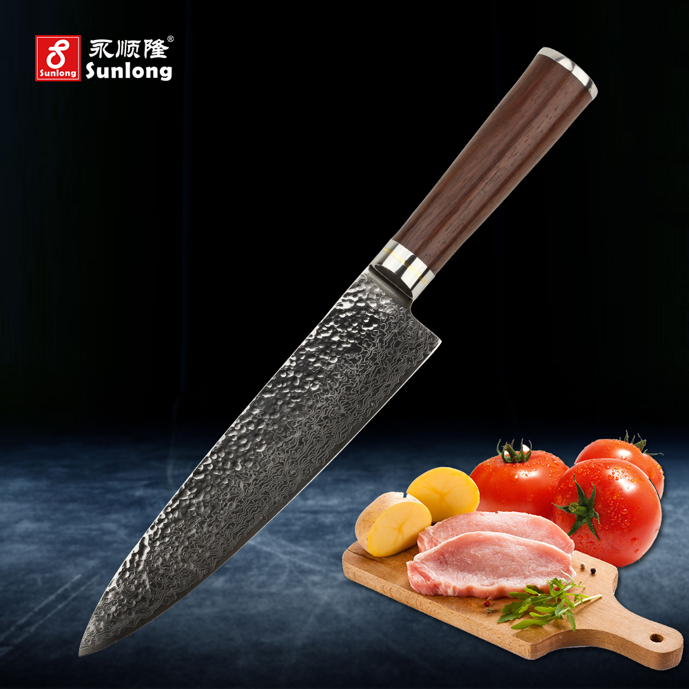 online buy wholesale kitchen knife manufacturers from china sunlong 8 inch chef knives vg 10 steel core 67 layers damascus knives kitchen knife