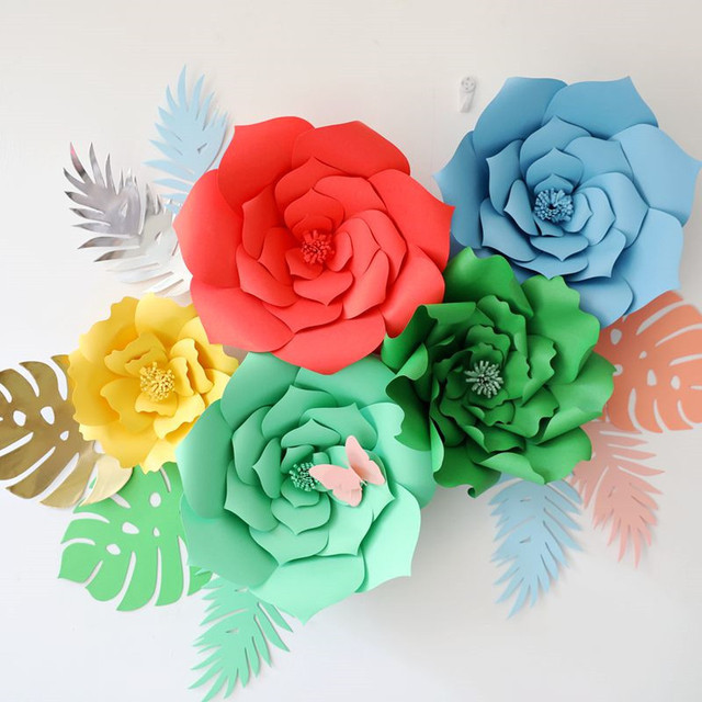 DIY Craft Paper Flower Paper Leaves Birthday Party Wedding Paper