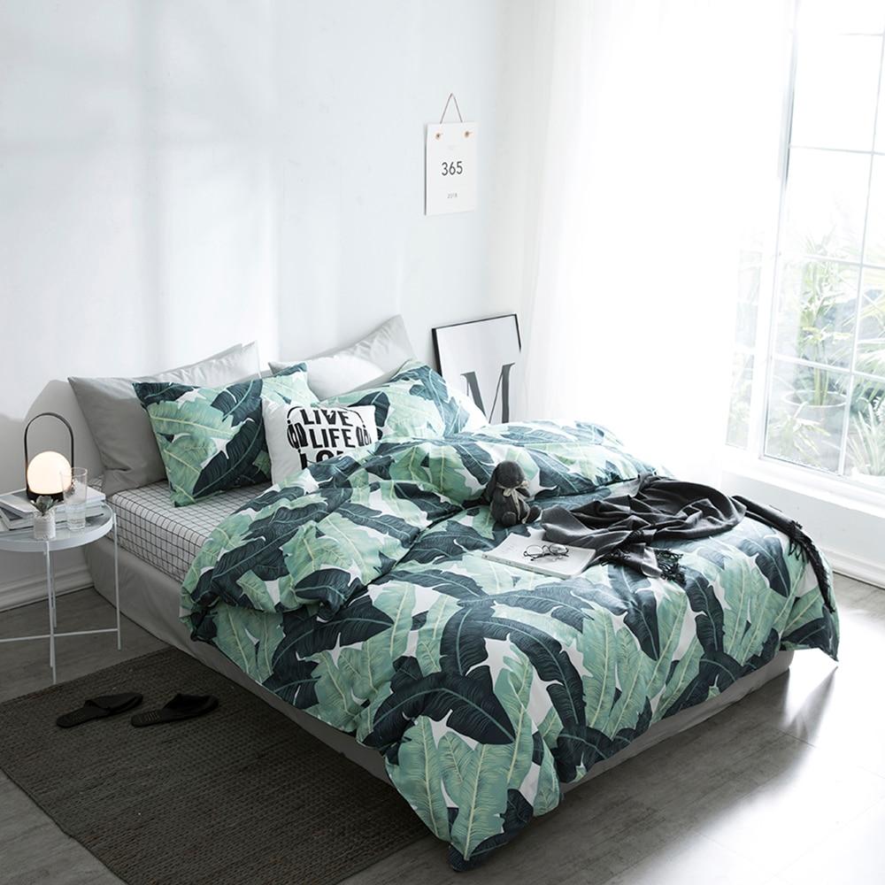 Fashion Double King Size Bed Pillowcase Quilt Duvet Cotton Cover Sets Bedding
