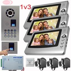 Sunflowervdp video door phone intercom system key intercom fingerprint code unlock ip65 waterproof video intercom 3.jpg 250x250