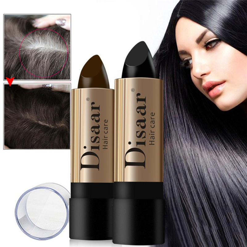 Hair-Color-Pen Texturizer Brown Black Lasting White 10g Fast-Temporary Waterproof 2PCS