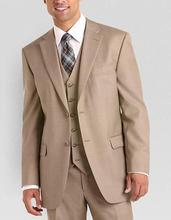 Fashionable Two Button Groom Tuxedos Groomsmen Men's Wedding Prom Suits Bridegroom (Jacket+Pants+Vest) K:785