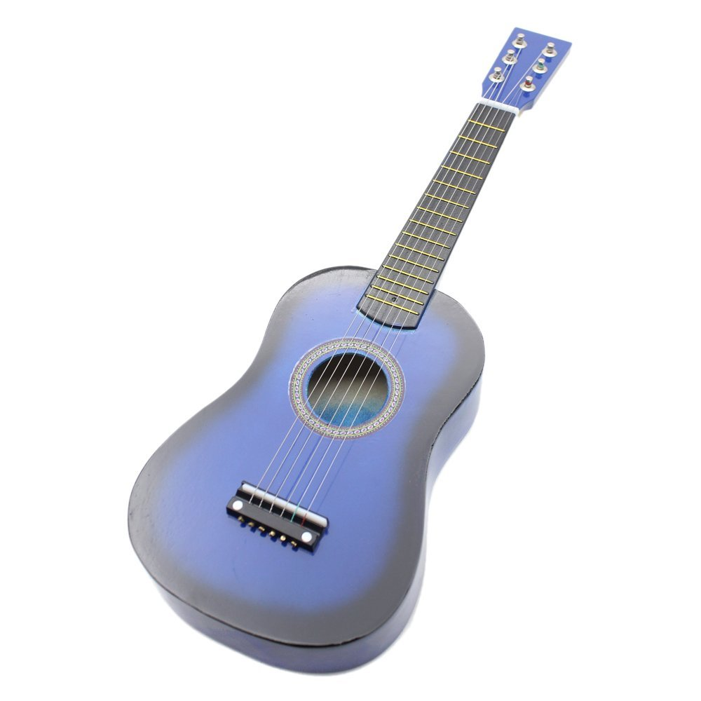 SYDS 23 Guitar Mini Guitar Basswood Kid's Musical Toy Acoustic Stringed Instrument with Plectrum 1st String Purple