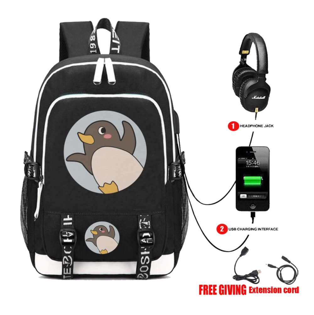 anime A Place Further Than the Universe backpack USB charging Headphone jack Men women travel backpack School book Bags 6 style