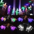 1.2 m 10 LED Cadena de Luces de Navidad Año Nuevo Partido Foto Clavija Clip de La Batería Decoración-Y103