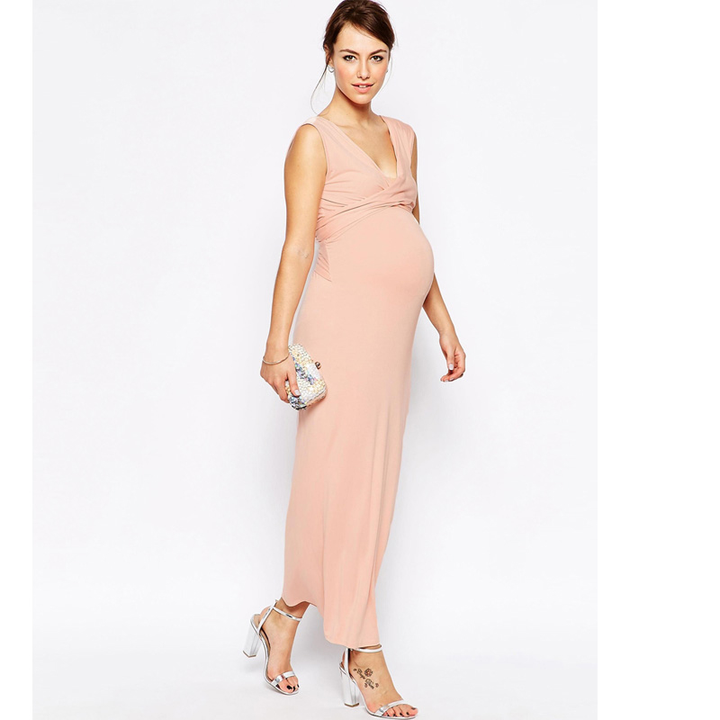 Summer V-Neck Maternity Maxi Dress Pregnant Women Long Evening Party Prom Dress Gown Nice Pregnancy Vestidos Maternity Clothes женское платье women dress 2015 v vestidos vestidos