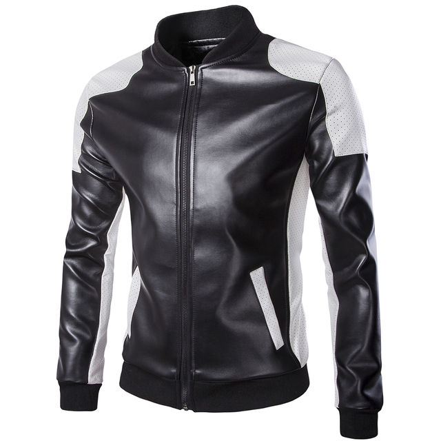 2016 hip hop Motorcycle winter jacket men PU Leather zipper men Jackets Fashion Brand clothing Casual leather Men jackrt