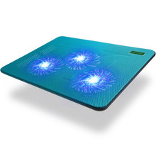 hot deal buy three fans lightweight portable cooling pads coolcold k19 usb super cool game notebook cooler pad for 14 15.6 17 inch laptops