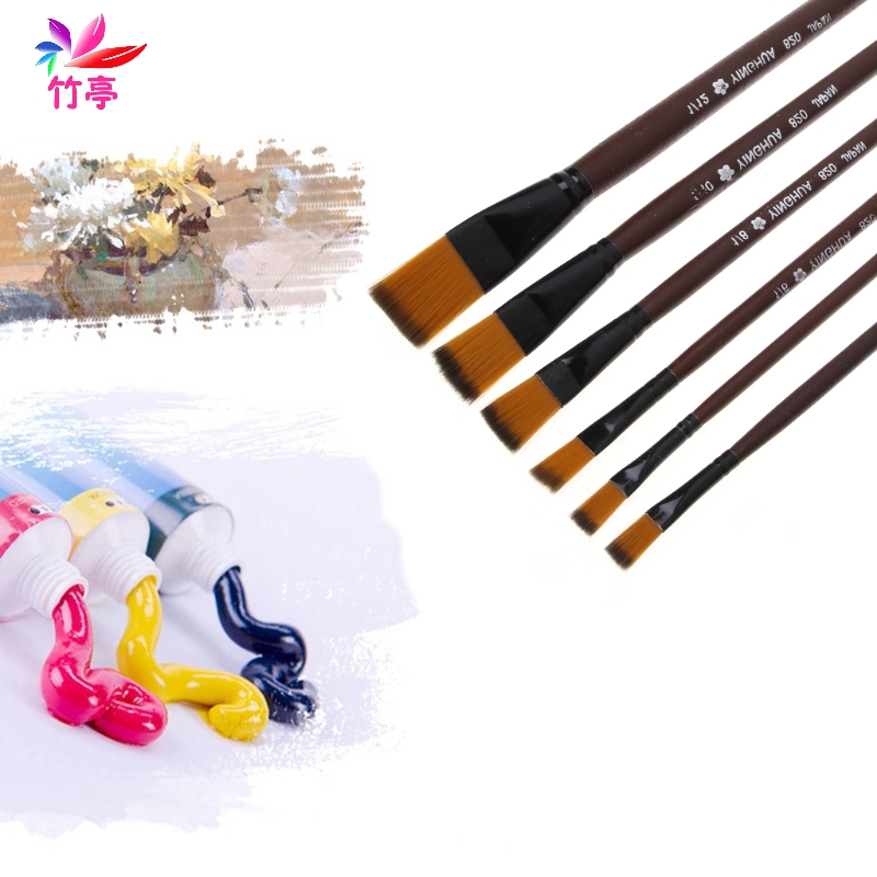 Art painting brushes set nylon hair acrylic oil watercolor for Acrylic mural paint supplies