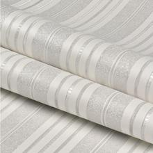 Modern Fashion Beautiful Vertical Stripe Wallpaper 3d Grey Pink Yellow Striped Wallpapers for Bedroom Living Room Decor QZ131