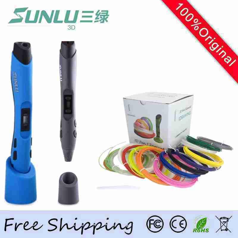 Original SUNLU Brand 3D Pen 20pcs ABS Filament EU Adapter 3D Pens Kids Best Puzzle Gift