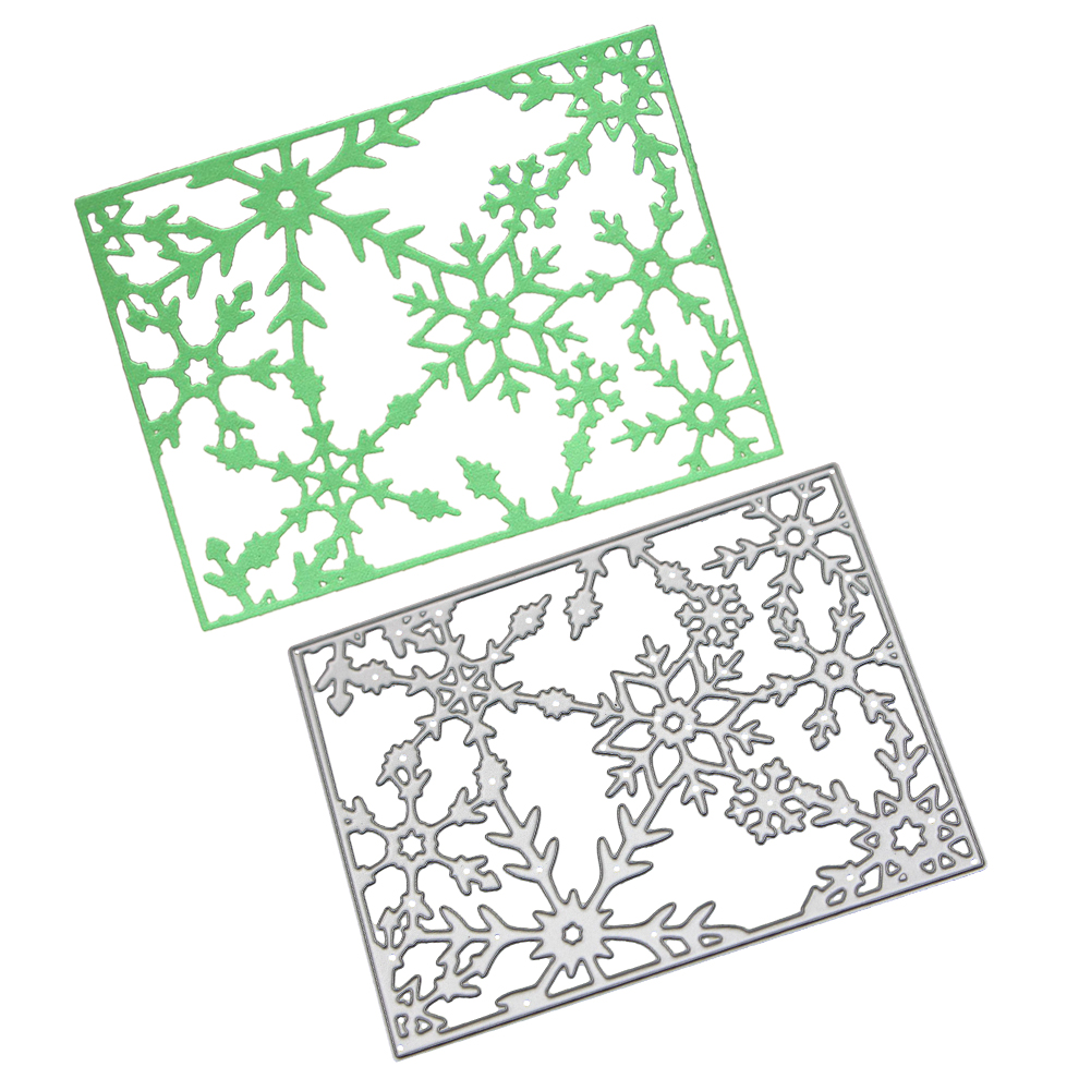 Weihnachten schneeflocke grenze metall stirbt schneiden dekoration ...